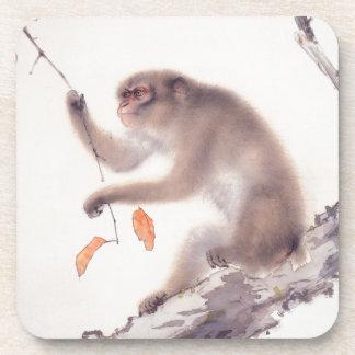 Affe-japanischer Malerei-Affe-Jahr-Tierkreis C Untersetzer