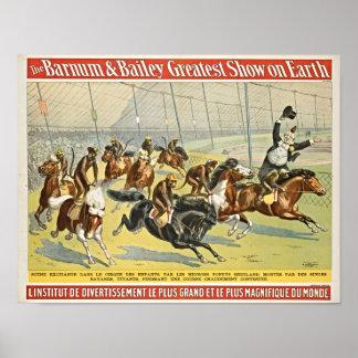 Affe-Jockeys auf die Poster