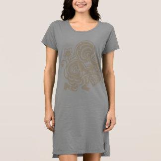 Affe-Papierausschnitt Kleid