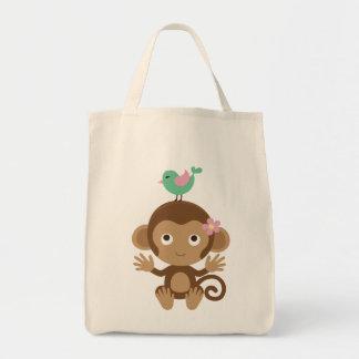 Affe und Birdie   Tasche