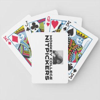 Affe-Uni, die Nitpickers kämpft Bicycle Spielkarten