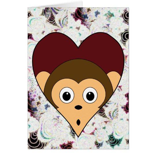 Affe-Valentinsgruß-Karte Grußkarte