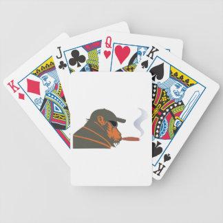 Affe Zigarre ape cigar Bicycle Spielkarten