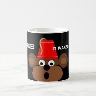 Affegesicht, KAFFEE! , WECKT ER MEINEN AFFEN OBEN! Kaffeetasse