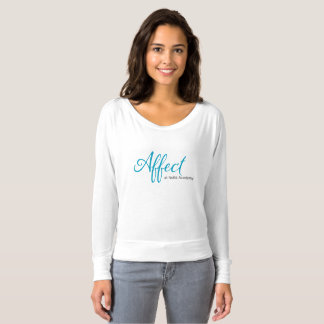 Affekt-Mamma weg von der Schulter-langen Hülse T-shirt