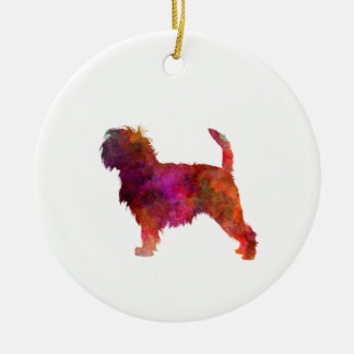 Affenpinscher 01 in Watercolor 2 Keramik Ornament