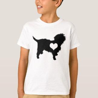 Affenpinscher-Herz scherzt T - Shirt