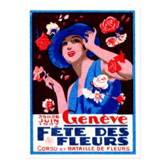 Affiche 1927 de floralies de Genève Cartes Postales