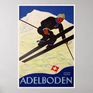 Affiche avec la copie vintage de station de sports