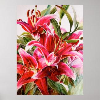 Affiche botanique originale de toile d'impression