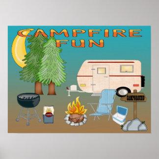 Affiche/copie d'amusement de camping poster