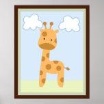 Affiche/copie d'art de mur de girafe de jungle de