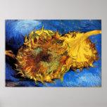 Affiche coupée de tournesols de Van Gogh deux