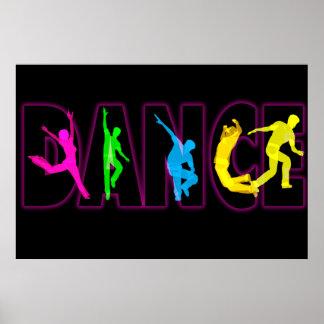 Affiche d énergie de danse