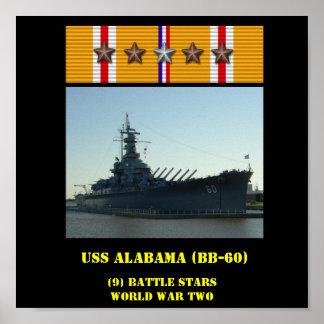 AFFICHE D USS ALABAMA BB-60
