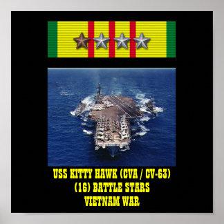 AFFICHE D USS KITTY HAWK CVA CV-63