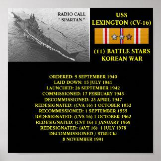AFFICHE D USS LEXINGTON CV-16