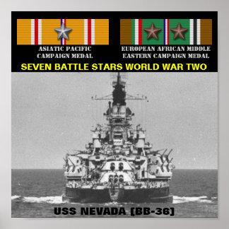 AFFICHE D USS NEVADA BB-36