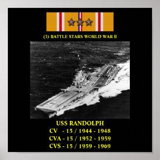 AFFICHE D USS RANDOLPH CV CVA CVS-15