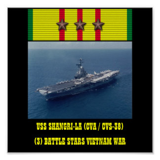 AFFICHE D USS SHANGRI-LA CVA CVS-38