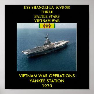 AFFICHE D USS SHANGRI-LA CVS-38