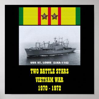 AFFICHE D USS ST LOUIS LKA-116