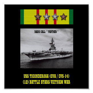 AFFICHE D USS TICONDEROGA CVA CVS-14