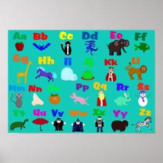 Affiche d'alphabet d'amusement