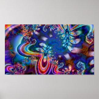Affiche d'art de la fractale R5K4