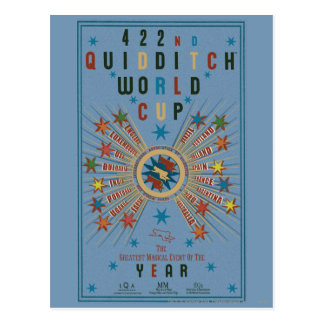 Affiche de bleu de coupe du monde de QUIDDITCH™ Carte Postale