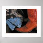 affiche de bottes de cowboy