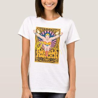 Affiche de femme de merveille t-shirt