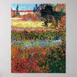 Affiche de jardin fleurissant de Van Gogh