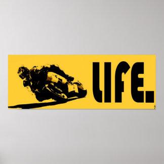 Affiche de jaune de la vie de Moto