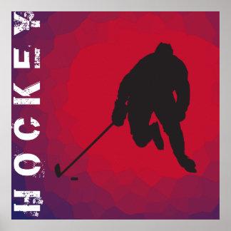 Affiche de joueur de hockey