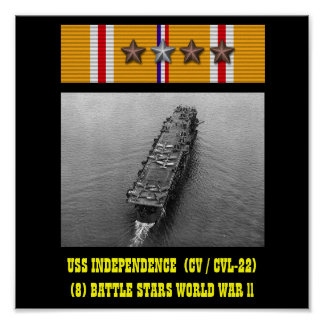 AFFICHE DE L INDÉPENDANCE D USS CV CVL-22
