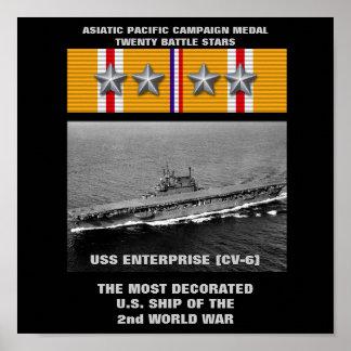AFFICHE DE L USS ENTERPRISE CV-6
