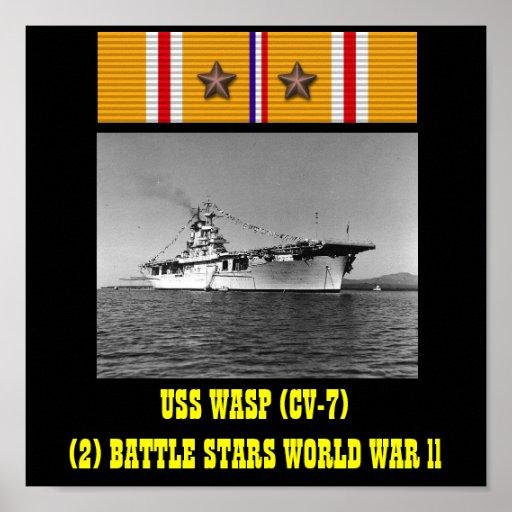 AFFICHE DE LA GUÊPE D'USS (CV-7)