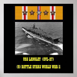 AFFICHE DE LANGLEY D'USS (CVL-27)
