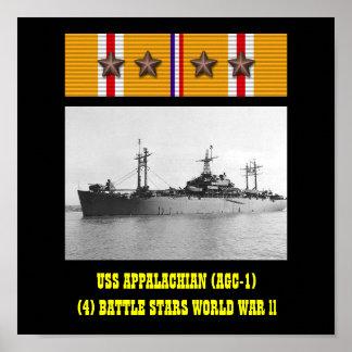AFFICHE DE L'APPALACHE D'USS (AGC-1)