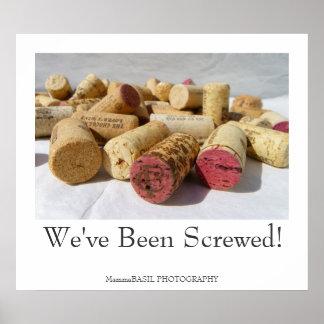Affiche de liège de vin d'amusement !