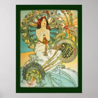 Affiche de Nouveau Monte Carlo d'art de Mucha