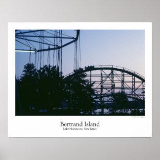Affiche de parc d'attractions d'île de Bertrand
