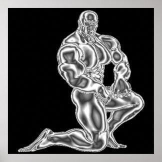Affiche de pose du culturisme des hommes