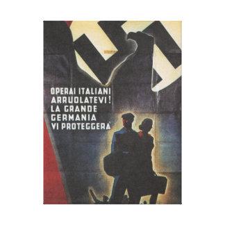 affiche de propagande de duo toiles