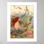 Affiche de sirène de Nouveau d'art/copie 18x24