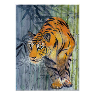 Affiche de tigre de Tsuyako