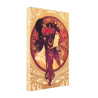 Affiche de toile d'Alphonse Mucha Donna Orechini Toiles