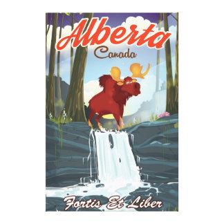 Affiche de voyage de bande dessinée d'Alberta Toiles