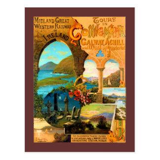 Affiche de voyage de Galway Carte Postale